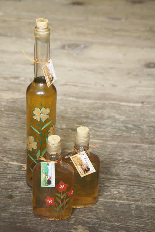Honey Liqueur and Honey Hooch. Traditional, splendid and captivating liqueur, with main ingredient the local honey produced by bees bred in the region